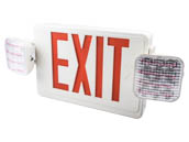 TCP LED20784 120 to 277V Red LED Exit Sign with Incandescent Emergency Lights