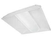 TCP TCPTRV2UNIZD4435K 45 Watt, Dimmable 2x2 ft Designer Series LED Recessed Troffer Fixture, 3500K