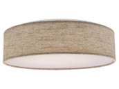 "Nuvo Lighting 62-985 14"" Fabric Drum LED Fixture Beige Nuvo Decor LED Flush Fixture"