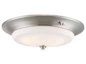 Nuvo Lighting 62-971 20W/LED/3000K90CRI/120-277V/BN Nuvo LED Flush Mount Emergency Battery Back-up Ready