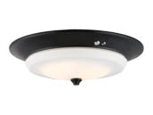 Nuvo Lighting 62-972 20W/LED/3000K90CRI/120-277V/AB Nuvo LED Flush Mount Emergency Battery Back-up Ready