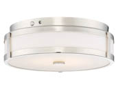 Nuvo Lighting 62-975 20W/LED/3000K90CRI/120-277V/PN Nuvo LED Flush Mount Emergency Battery Back-up Ready