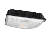 NaturaLED 7490 LED-FXSCM28/50K/BK-SEN 28 Watt 5000K Slim Canopy LED Fixture With Daylight and Motion Sensing
