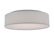 "Nuvo Lighting 62-990 14"" Fabric Drum LED Fixture White Nuvo Decor LED Flush Fixture"