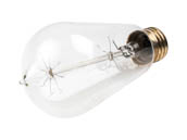 "Satco Products, Inc. S2413 40ST19/CL/15S/120/Vintage 40 Watt 120 Volt ST19 ""Vintage"" Decorative Bulb"