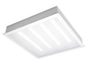 TCP TCPETRF2UNIZD2030K 25 Watt, 2x2 ft Dimmable Recessed LED Troffer Fixture, 3000K