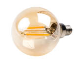 Bulbrite 776606 LED2G16/22K/FIL-NOS/2 Dimmable 2.5W 2200K Vintage G16 Filament LED Bulb, E12 Base, Rated For Enclosed Fixtures