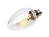 Bulbrite 776656 LED4B11/27K/FIL/E12/2 Dimmable 4.5W 2700K Decorative Filament LED Bulb, Enclosed Fixture Rated