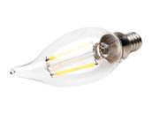 Bulbrite 776658 LED2CA10/27K/FIL/E12/2 Dimmable 2.5W 2700K Decorative Filament LED Bulb, Rated For Enclosed Fixtures