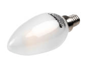 Bulbrite 776674 LED2B11/27K/FIL/E12/F/2 Dimmable 2.5W 2700K Decorative Frosted Filament LED Bulb, Enclosed Fixture Rated