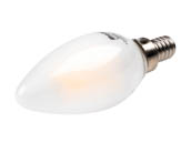 Bulbrite 776672 LED4B11/27K/FIL/E12/F/2 Dimmable 4.5W 2700K Decorative Frosted Filament LED Bulb, Enclosed Fixture Rated