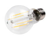 Bulbrite 776668 LED7A19/30K/FIL/2 Dimmable 7W 3000K A19 Filament LED Bulb, Enclosed Fixture and Wet Rated