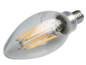 Bulbrite 776663 LED4B11/30K/FIL/E12/2 Dimmable 4.5W 3000K Decorative Filament LED Bulb
