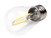 Bulbrite 776651 LED2S14/27K/FIL/2 Dimmable 2.5W 2700K S14 Filament LED Bulb, Rated For Enclosed Fixtures