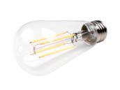 Bulbrite 776667 LED7ST18/27K/FIL/2 Dimmable 7W 2700K ST18 Filament LED Bulb
