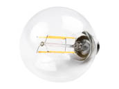 Bulbrite 776575 LED7G25/27K/FIL/2 Dimmable 7W 2700K G25 Filament LED Bulb