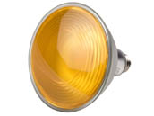 Philips Lighting 469080 13.5PAR38/YELLOW/FLOOD/ND ULW Philips Non-Dimmable 13.5W Yellow/Bug Light 40° PAR38 LED Bulb, Enclosed Fixture and Outdoor Rated