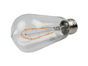Bulbrite 776513 LED4ST18/22K/FIL-NOS/CURV/1890 Dimmable 4W 2200K 95 CRI Vintage ST18 Filament LED Bulb