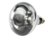 Satco Products, Inc. S4999 (Safety) 250BR40-CL-SA-TFC (Safety) 250 Watt, 120 Volt BR40 Clear Safety Coated Heat Bulb. WARNING:  THIS BULB IS NOT TO BE USED NEAR LIVE BIRDS.