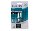 Philips Lighting 416115 BC15T6C/TP 120V Philips 15W 120V T6 Clear Tube E12 Base