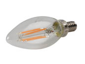 MaxLite 1408340 F4B10DLED927/JA8 Maxlite Dimmable 4W 2700K Decorative Filament LED Bulb, JA8 Compliant