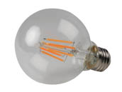 Philips Lighting 470807 5G25/AMB/822-27/E26/CL/GL/WGD Philips Dimmable 5W WarmGlow 2700K-2200K G25 Filament LED Bulb