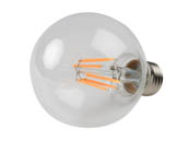 Philips Lighting 470815 6G25/AMB/822-27/E26/CL/GL/WGD CT 1PK Philips Dimmable 6W WarmGlow 2700K-2200K G25 Filament LED Bulb