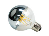 Green Creative 97826 4.5FG25DIM/827/SB Dimmable 4.5W 2700K Half Mirror G25 Filament LED Bulb