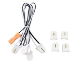 MaxLite 14098786 G5KIT4 T5 Retrofit Wiring Harness For 4-Lamp Bypass Single-End Powered LED T5 Bulb