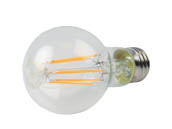 TCP FA19D6022KC Dimmable 8W 2200K A19 Vintage Filament LED Bulb, Enclosed Rated