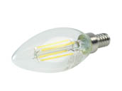 QLS FB11D4050EE12C Dimmable 4W 5000K Decorative Filament LED Bulb, Enclosed Rated