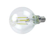 QLS FG16D4027KE12C Dimmable 4W 2700K G-16 Filament LED Bulb, Enclosed Rated
