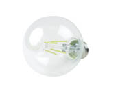 QLS FG25D4027EC Dimmable 4W 2700K G-25 Filament LED Bulb, Enclosed Fixture Rated