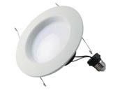 "Satco Products, Inc. S29726 10.5WLED/RDL/5-6/40K/120V Satco Dimmable 10.5 Watt 5""/6"" 4000K 90 CRI Recessed LED Downlight"