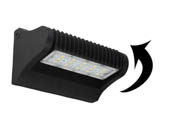 PacLights FWPR025-50 70 Watt Equivalent, 25 Watt Adjustable Full Cutoff LED Wallpack Fixture, 5000K