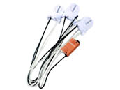 Keystone KT-SOCKET-T8-U-S-3-W T8 Retrofit 3-Lamp Wiring Harness for LED Tubes