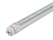 "Keystone KT-LED18T8-42P2S-865-D 18W 42"" 6500K Double-Sided T8 LED Sign Bulb, Ballast Bypass"