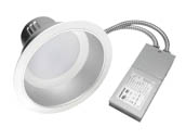 "MaxLite 1408679 RRECO61830W/V2 18 Watt Dimmable, 3000K, 6"" LED Recessed Downlight Retrofit"