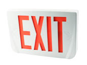 Emergi-Lite WPREMSNXR LED Exit Sign, Red Lettering, 120-277V Only With Battery Backup