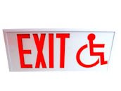 Exitronix CT700E-WB-WH-S/ADA Steel Exit Sign Featuring Wheelchair Accessibility Symbol, White