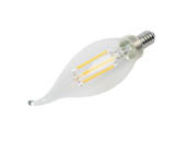 Satco Products, Inc. S9962 5.5W CFC/LED/27K/CL/120V Satco Dimmable 5.5W 2700K CA11 Decorative Filament LED Bulb, Enclosed Fixture Rated