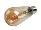 Bulbrite 776801 LED5ST18/22K/FIL-NOS/3 Dimmable 5W 2200K 90 CRI Vintage ST18 Filament LED Bulb, Enclosed Rated