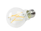 Bulbrite 776874 LED7A19/27K/FIL/3 Dimmable 7W 2700K A19 Filament LED Bulb, Enclosed and Wet Rated
