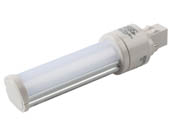 Keystone KT-LED62P-H-830-D Non-Dimmable 6W 2 Pin Horizontal 3000K GX23 LED Bulb, Ballast Bypass