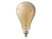Philips Lighting 479253 5.5A50/VIN/820/CL/G/ND Philips Non-Dimmable 5.5W 2000K Vintage A50 Filament LED Bulb, Enclosed Rated