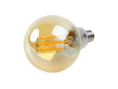 Philips Lighting 470427 4.5G16.5/AMB/820/E12/CL/DIM Philips Dimmable 4.5W 2200K Vintage G-16.5 Filament LED Bulb, Outdoor and Enclosed Rated