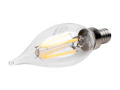 Bulbrite 776864 LED4CA10/30K/FIL/3 Dimmable 4.5W 3000K Decorative Filament LED Bulb, Enclosed Rated