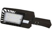 "Energetic Lighting 75043-EA E3SB150L3-750-EA Energetic 156 Watt, 400 Watt Equivalent, Dimmable 5000K Slim LED Area Fixture With 6"" Arm and Photocell, Type III"