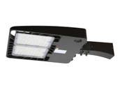"Energetic Lighting 75045-EA E3SB240L3-750-EA Energetic 254W, 500W Equivalent, Dimmable 5000K Slim LED Area Fixture With 6"" Arm and Photocell, Type III"