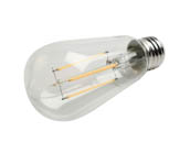 Bulbrite 776867 LED7ST18/27K/FIL/3 Dimmable 7W 2700K ST18 Filament LED Bulb, Enclosed and Wet Rated